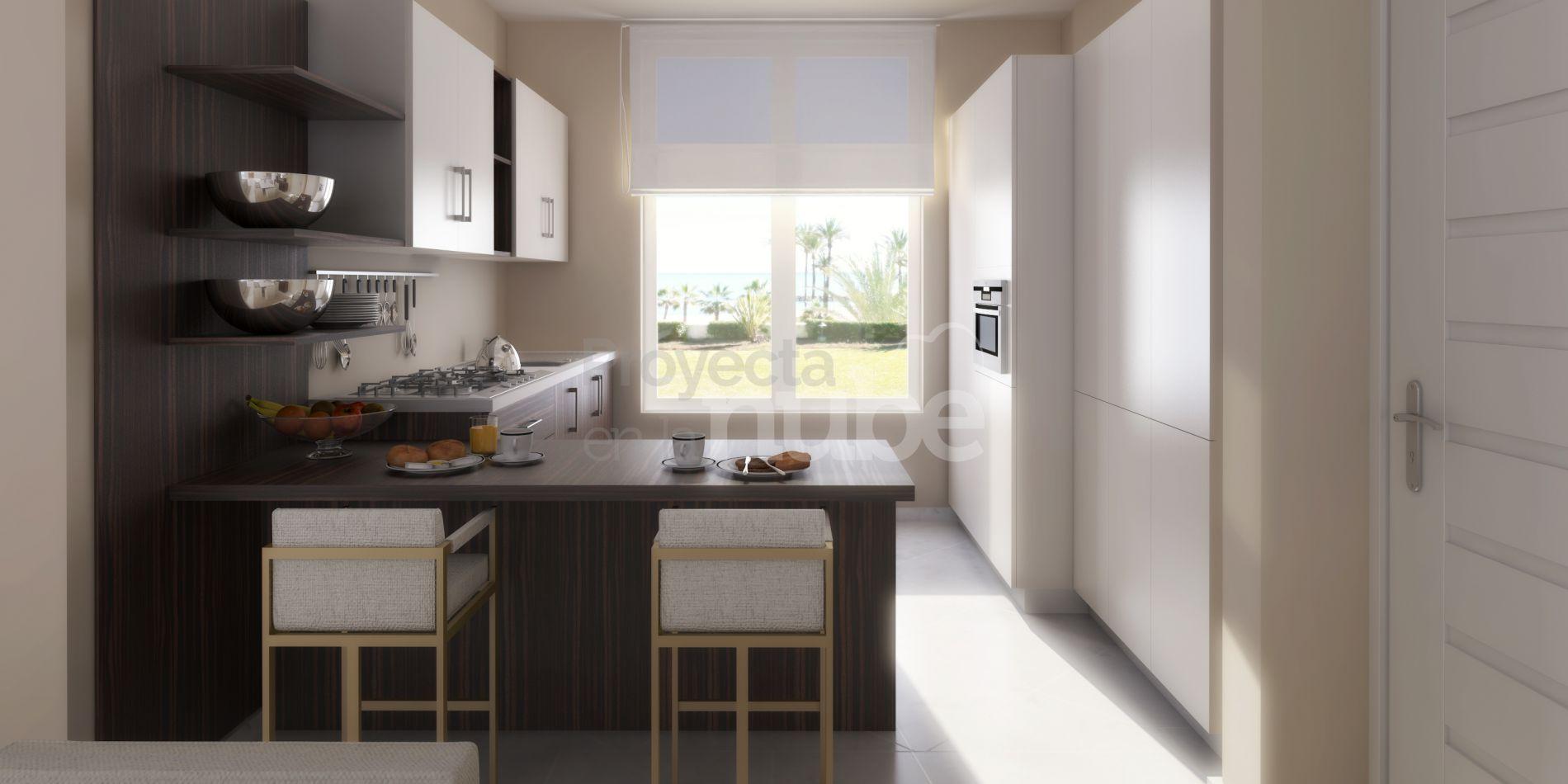 Infograf as 3d interiores de la villa la pereza marbella for Cocinas marbella