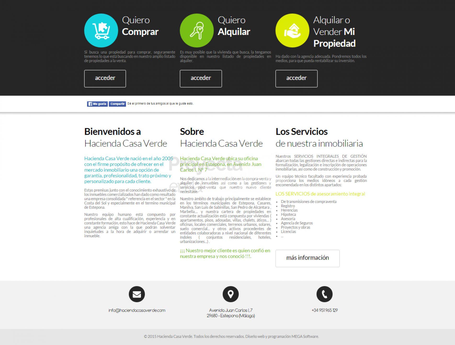 P gina web estepona inmobiliaria hacienda casa verde for Inmobiliaria o inmobiliaria