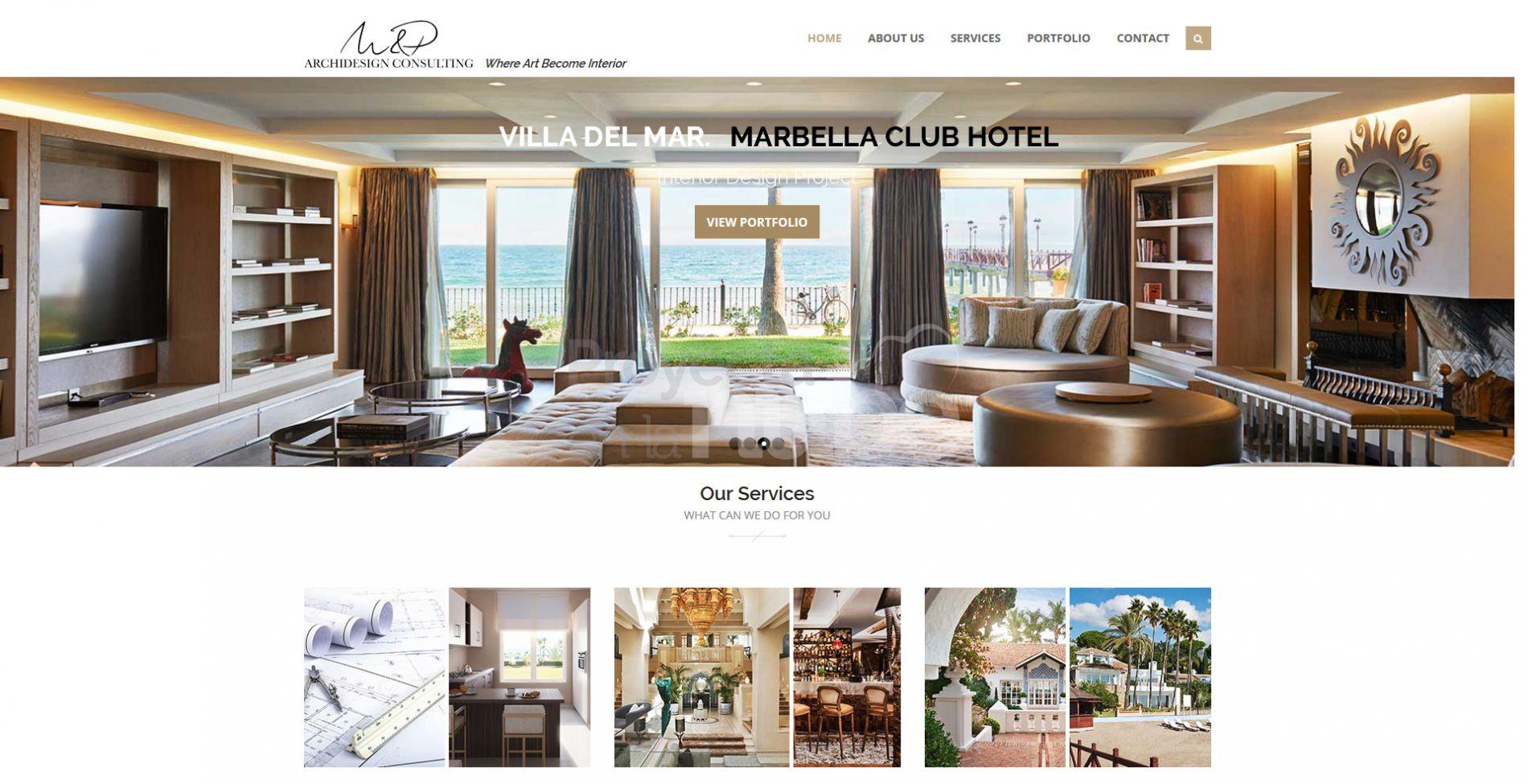 Página web responsive empresa de interiorismo en Marbella